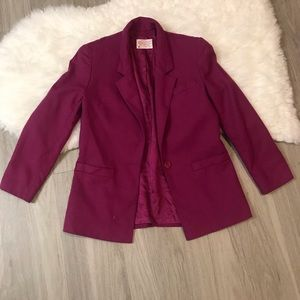 Pendleton Petite 100% Virgin Wool Blazer Size 8